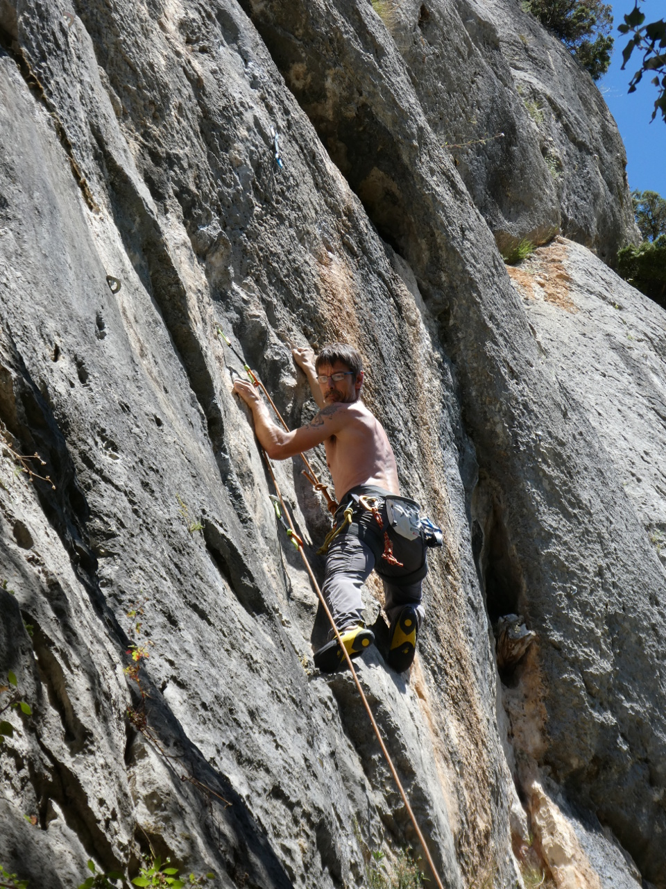 Escalade Rochefort-du-Gard